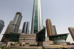 Jumeirah Lake Towers in Dubai Stock Image