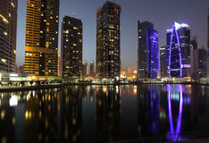 Jumeirah Lake Towers in Dubai Stock Photography