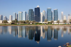 Jumeirah Lake Towers in Dubai Royalty Free Stock Photo