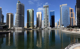 Jumeirah Lakes Towers in Dubai Stock Images