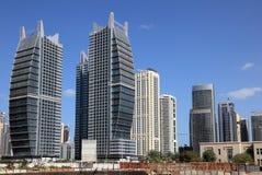 Jumeirah Lakes Towers in Dubai royalty free stock photos