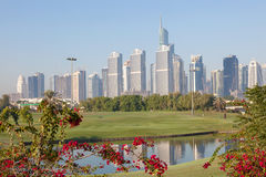 Jumeirah Lakes Towers in Dubai Royalty Free Stock Image