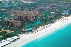 空中jumeirah madinat视图 免版税库存图片