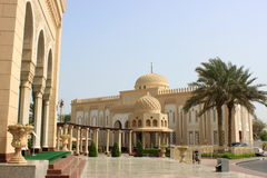 Jumeirah Mosque in back Stock Photo