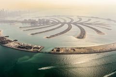 Jumeirah Palm Island - Dubai, United Arab Emirates royalty free stock image