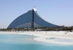 Jumeirah Strand-Hotel Lizenzfreie Stockfotos