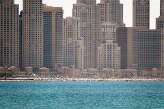 Jumeirah Strand-Wohnsitze Lizenzfreie Stockfotos