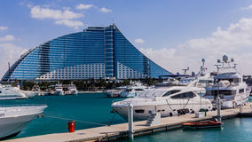 Jumeirah strandhotell Royaltyfri Bild