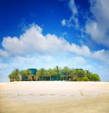 Jumeirah Tropical Island Royalty Free Stock Photos