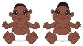 Jumelle des garçons de bébés de nègre illustration libre de droits