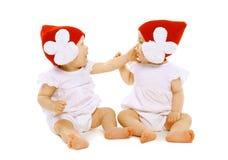 Jumelle jouer de bébé Photos stock