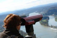 Jumelles de télescope Photographie stock libre de droits