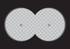 Jumelles de vue sur un fond transparent Photographie stock