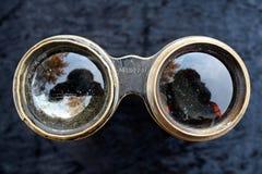 Jumelles en laiton antiques Image stock