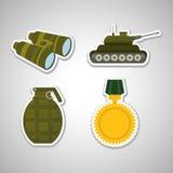 Jumelles militaires conception, illustration de vecteur Images stock
