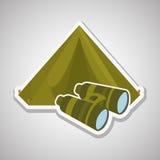 Jumelles militaires conception, illustration de vecteur Image libre de droits
