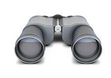Jumelles noires d'isolement sur le fond blanc rendu 3d Photos stock