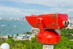 Jumelles stationnaires d'observation à Pattaya Photo libre de droits