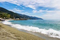 Jument d'Al de Monterosso, un village côtier et station de vacances en Cinque Terre Images libres de droits