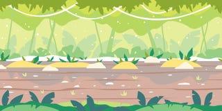Jumgle Forest Game Background Flat Landscape libre illustration