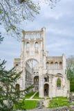 Jumieges abbotskloster, förstörd Benedictinekloster i Normandie, Frankrike Fotografering för Bildbyråer