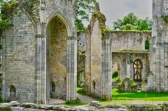 Jumieges, Francia - 22 de junio de 2016: Abadía del Saint Pierre Foto de archivo