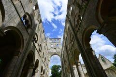 Jumieges, Francia - 22 de junio de 2016: Abadía del Saint Pierre Foto de archivo libre de regalías