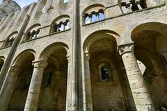 Jumieges, Francia - 22 de junio de 2016: Abadía del Saint Pierre Fotos de archivo libres de regalías