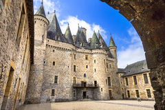 Jumilhac-le-tusen dollar slott Arkivbild