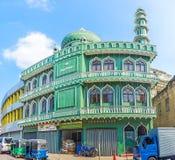 Jumma Masjid清真寺在Pettah 免版税库存照片
