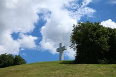 Jumonville十字架 免版税库存照片
