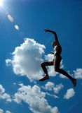 Jump. In the sky Royalty Free Stock Images