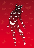 Jump. Big jump and white butterfly Royalty Free Illustration