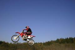 Jump. Biker royalty free stock photos