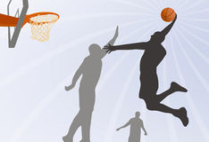 Jump. Basketball player jumping high in the air Royalty Free Stock Images