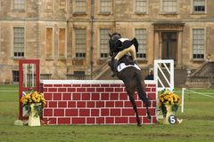 Jump. Horse Jumping competition Royalty Free Stock Photography