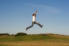 Jump. Ing man Stock Image