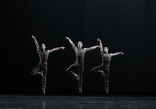 Jump in the air-Classical ballet `Austen collection` Royalty Free Stock Photos