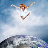 Jump of ballerina Royalty Free Stock Photo