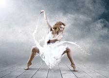 Jump of ballerina Royalty Free Stock Images