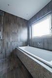 Jump into the bath Stock Photo