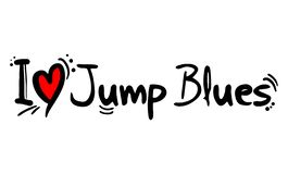 Jump Blues music style love. Creative design of Jump Blues music style love stock illustration