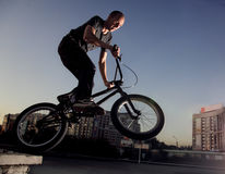 Jump on bmx bike Royalty Free Stock Photos