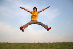 Jump boy royalty free stock images