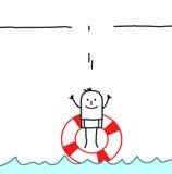 Jump in a buoy vector illustration