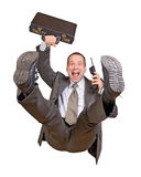 Jump businessman Royalty Free Stock Photo