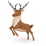 Jump cartoon reindeer Stock Photo