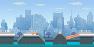 Jump City Game Background royalty free illustration