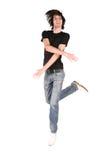 Jump dance boy Stock Photos