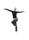 Jump Dance Fly Stock Photo